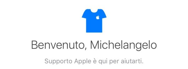 Supporto Apple disponibile anche in Italia