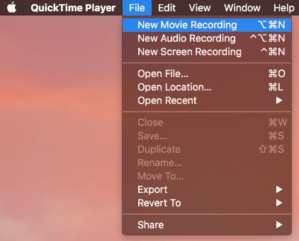 apriamo Quicktime sul nostro Mac (lo trovate cliccando su Launchpad oppure andando in Finder e poi dentro la cartella Applicazioni)