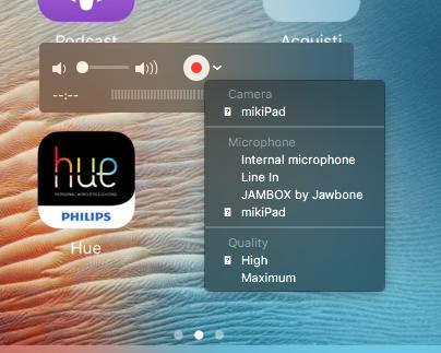 registrare schermo ipad